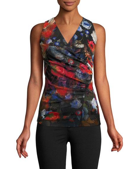Sleeveless Floral-Print Top