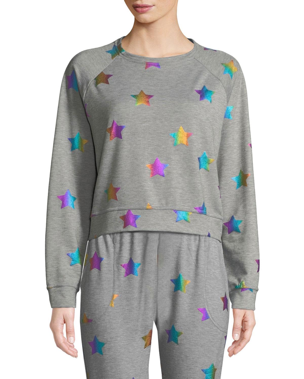 c28449d8bd60 Terez Star Foil Printed Crewneck Sweatshirt