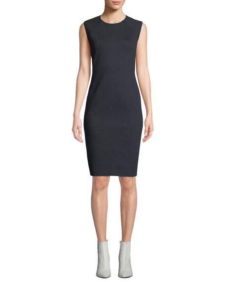 Theory Pinstripe Knit Power Dress