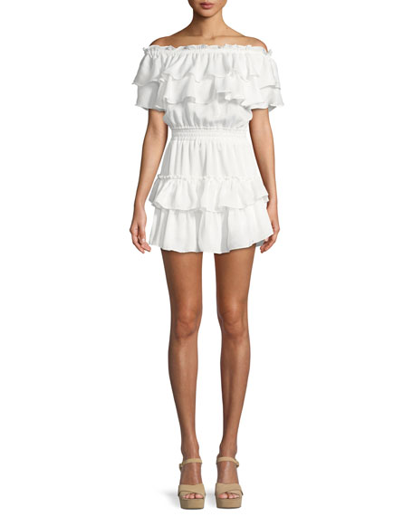 Giada Off-the-Shoulder Ruffle Dress