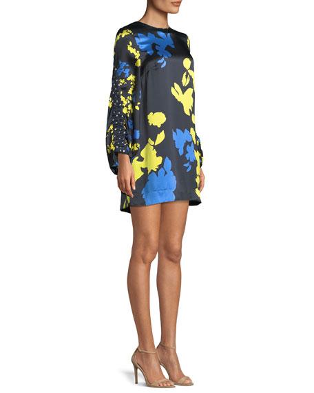 Florence Camo Printed Silk Mini Dress