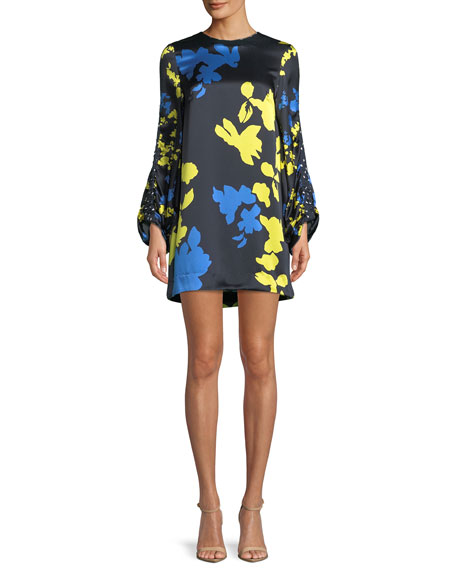 Florence Camo Printed Silk Mini Dress