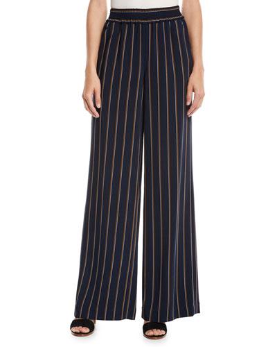 Hester Studio Stripe Drape Cloth Pants