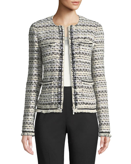 Lafayette 148 New York Benji Modulated Tweed Jacket