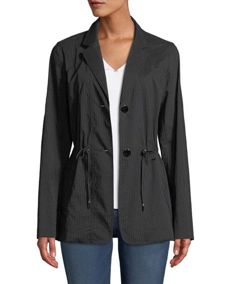 Porsha Sander Stripe Jacket w/ Adjustable Cord