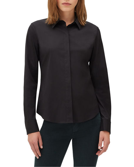 Lafayette 148 New York Phaedra Blouse in Italian-Stretch
