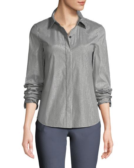 Phaedra Captivating Stripe Shirting Blouse