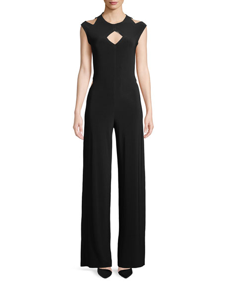 Sleeveless Cut Out Jumpsuit in Soft Jersey