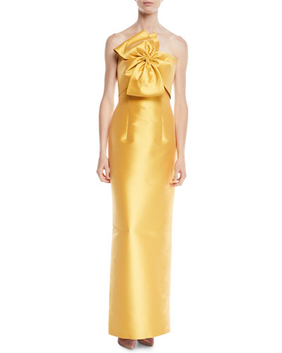 Joanna Strapless Gown w/ Bow Detail