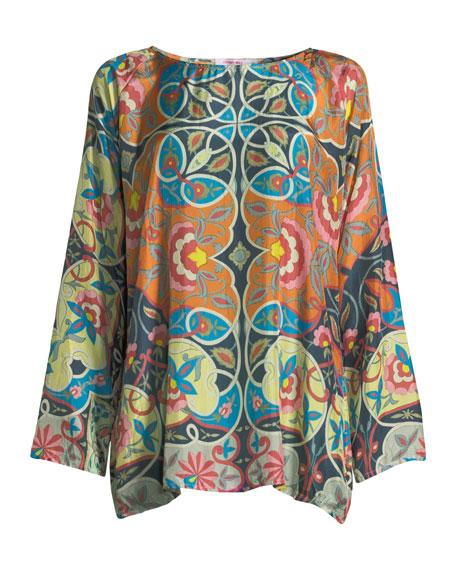 Lentine Silk Printed Georgette Tunic