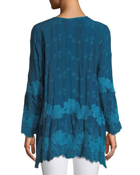 Fanya Rayon Georgette Tunic, Plus Size