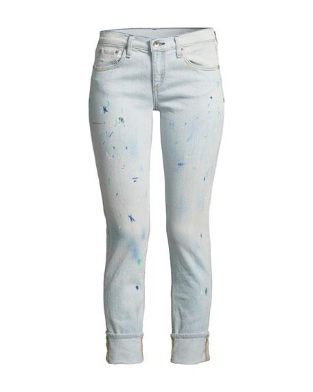 Ankle Dre Splattered Cropped Jeans
