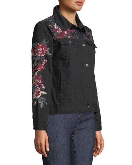 Rae Embroidered Cotton Weekend Jacket