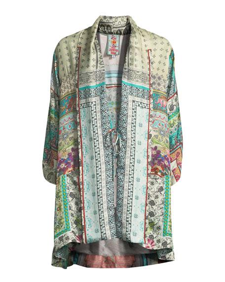 Samira Long Silk Kimono Jacket