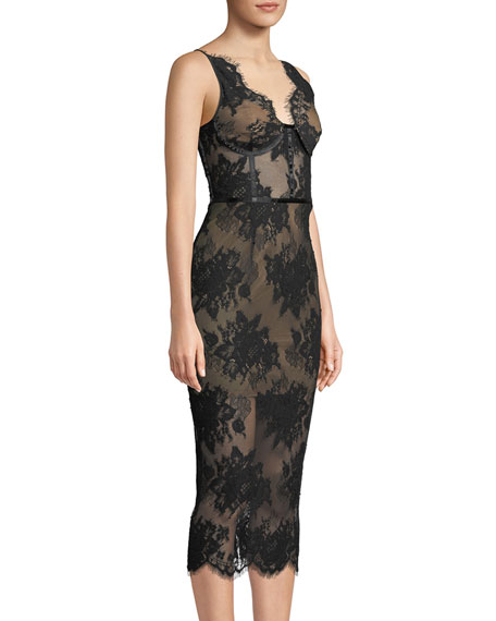 Finley Sheer Floral Lace Dress