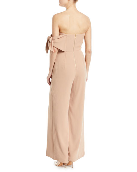 Linsey Strapless Flared-Leg Pantsuit