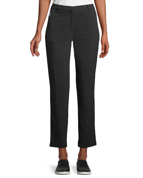 Anatomie Thea Straight-Leg Ankle-Length Pants w/ Side Zip