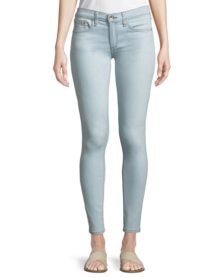 Mid-Rise Skinny-Leg Ankle Jeans