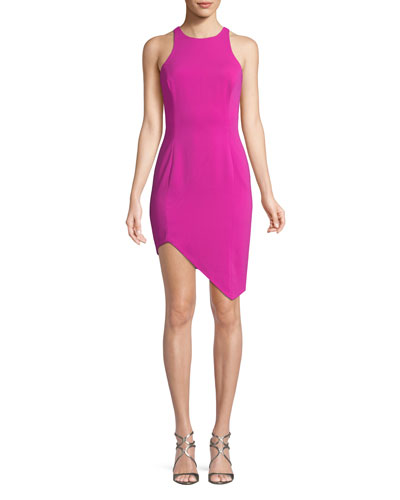 Gallagher Asymmetric Mini Cocktail Dress