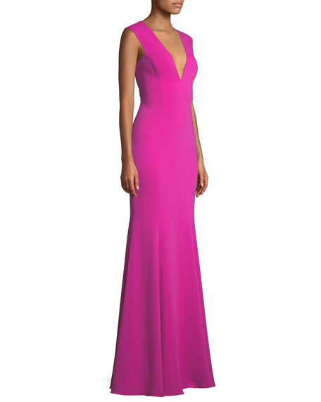 Victoria Deep V-Neck Gown