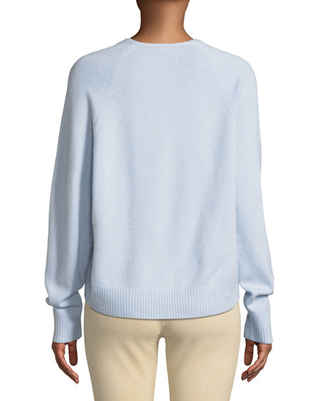 V-Neck Raglan Cashmere Sweater