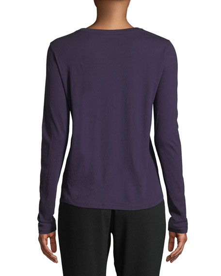 Essential Long-Sleeve Crewneck Tee