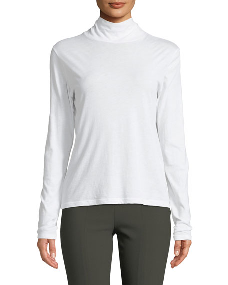 Long-Sleeve Cotton Turtleneck Sweater