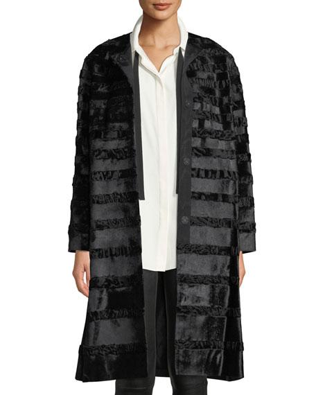 Premier Parissa Calf Hair & Curly Lamb Coat