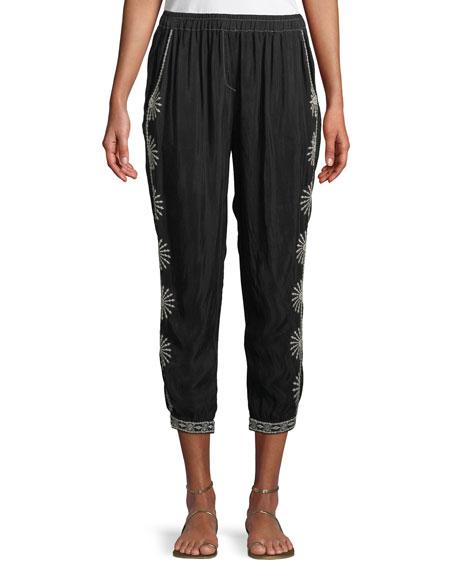 Ciro Embroidered Jogger Pants