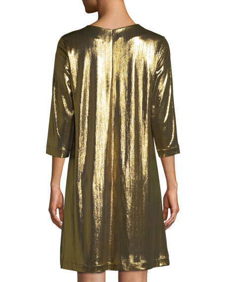 Gold-Back Silk Sport Dress