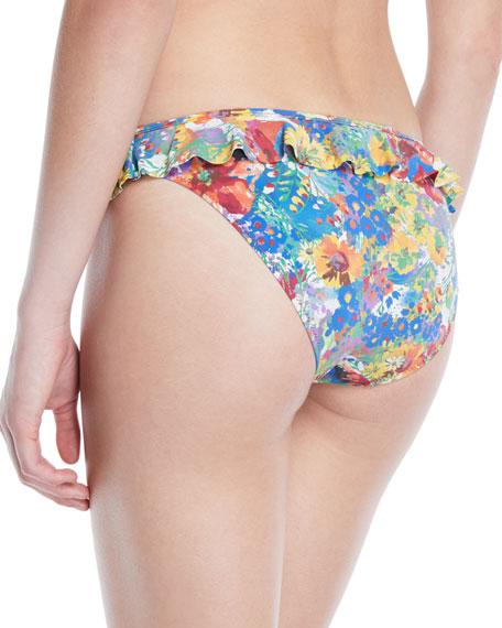 Iconic Printed Ruffle Hipster Bikini Bottoms