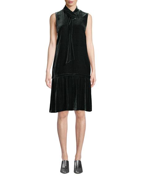 Lafayette 148 New York Abbie Tie-Neck Sleeveless Velvet