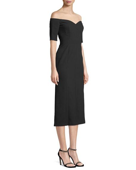 Marisol Off-the-Shoulder Midi Dress