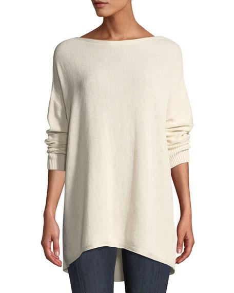 Drop-Shoulder Novelty Sequin  Pullover Sweater