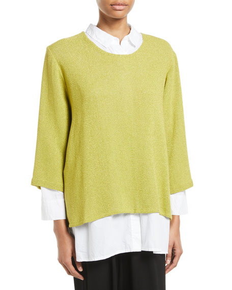 Masai Banuni Scoop-Neck Boucle Top
