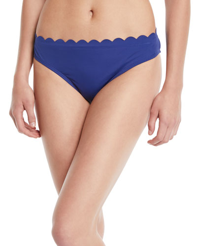 Petal Scalloped Hipster Bikini Bottoms