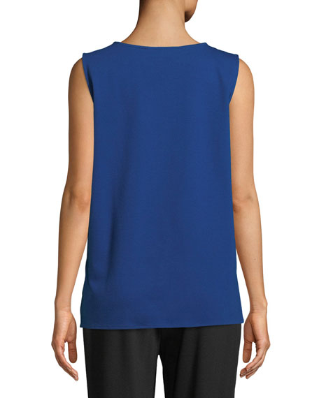 Ponte Knit Longer Tank, Petite