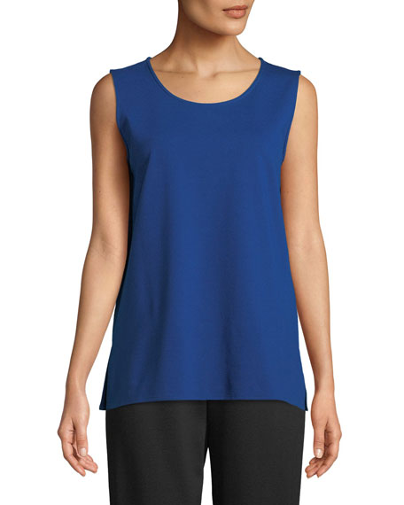 Caroline Rose Ponte Knit Longer Tank, Petite