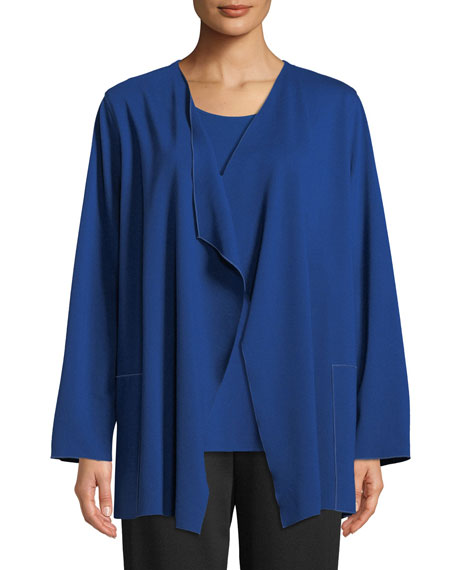 Ponte Luxe Saturday Jacket w/ Pockets, Petite