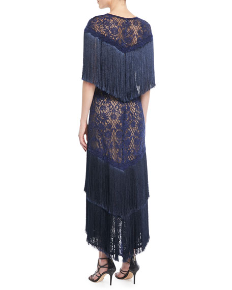 Frink Corded Lace Capelet Gown
