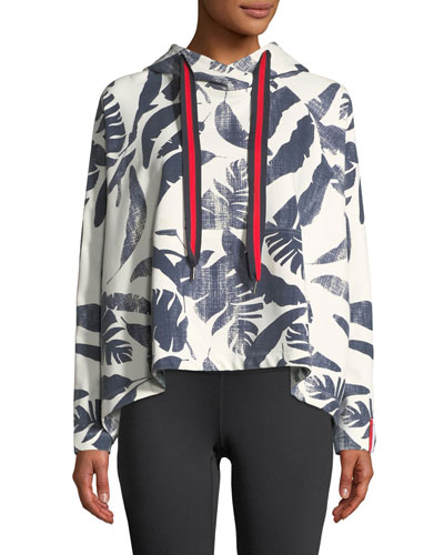 Lennox Palm-Print Pullover Hoodie