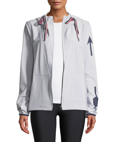 Dupont Striped Hooded Logo Jacket