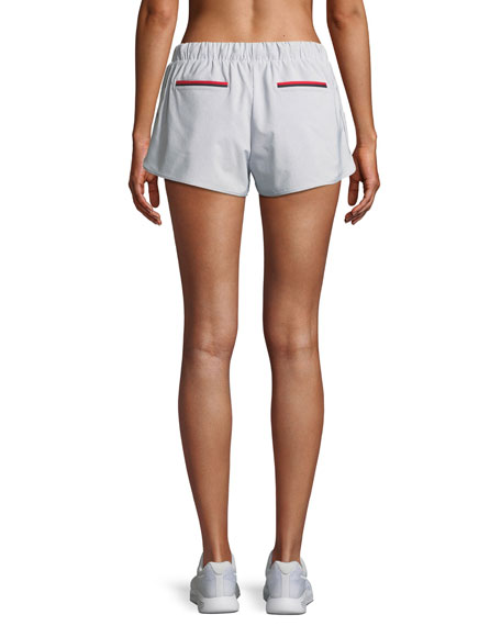 Dupont Striped Drawstring Running Shorts