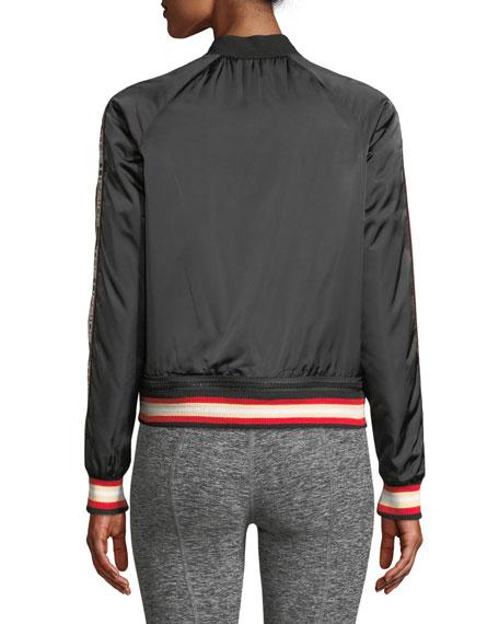 Sugar Zip-Front Logo Bomber Jacket