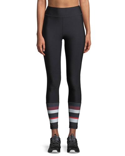 Sport High-Waist Paneled Matte Leggings