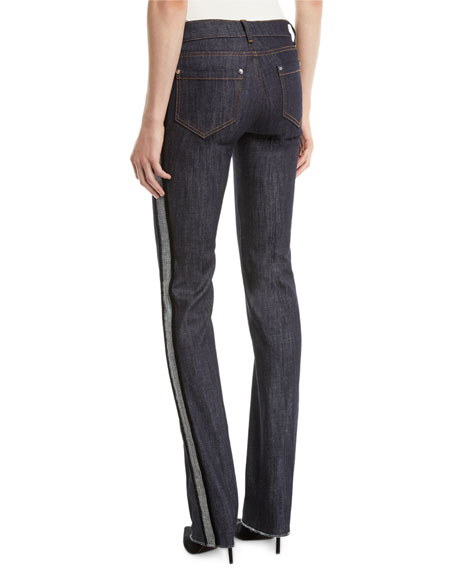 Skinny Jeans with Velvet Side Stripe