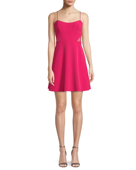 Aidan by Aidan Mattox Crepe Mini Cocktail Dress