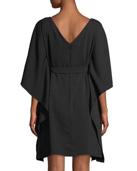 Kaftan Insert-Front Mini Dress