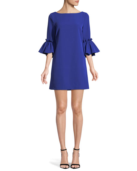 Milly Kinsley Italian Cady Shift Dress