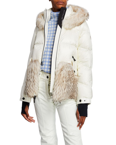 0971109ef653a Moncler Grenoble Joux Quilted Coat w  Fur